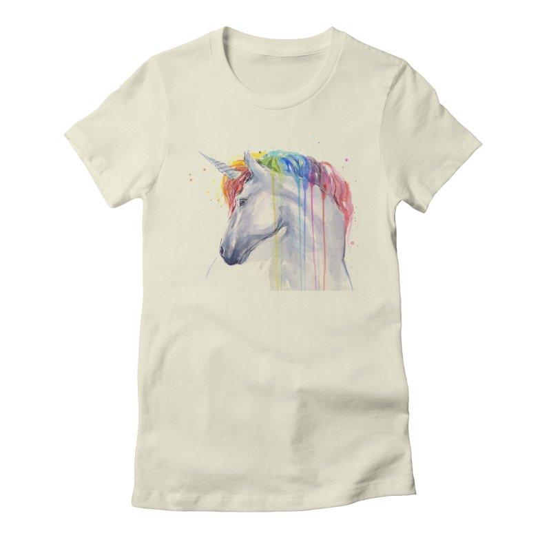 Rainbow Unicorn Women's T-Shirt by Art by Olga Shvartsur