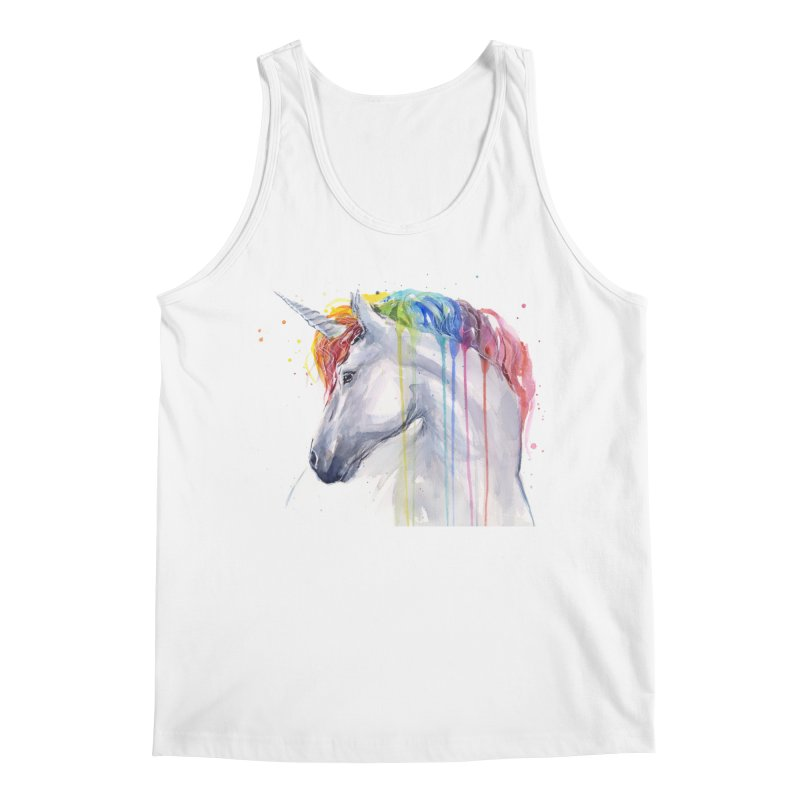 Rainbow Unicorn Men's Regular Tank by Art by Olga Shvartsur