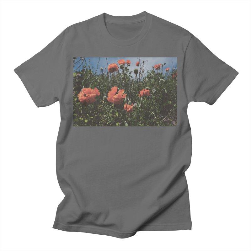 Faded Poppy Field Men's T-Shirt by OliviaHathaway's Artist Shop