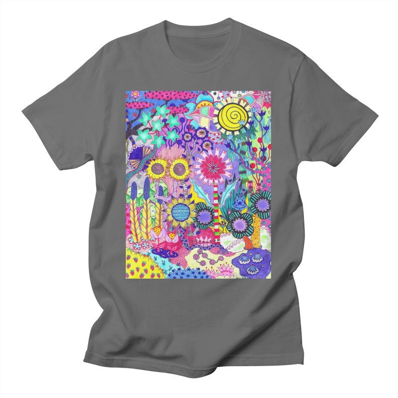 Double Sunflower Abstract Men's T-Shirt by OliviaHathaway's Artist Shop