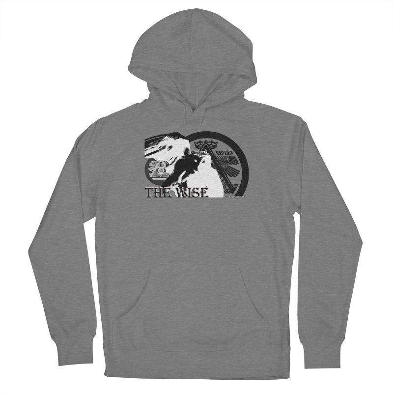 The Wise in Men's French Terry Pullover Hoody Heather Graphite by OmniPotentBeatz's Shop