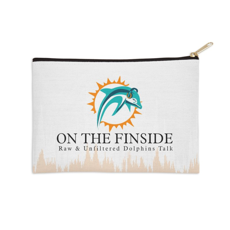 "White Logo - Equalizer ""Fire"" Accessories Zip Pouch by OnTheFinSide's Artist Shop"