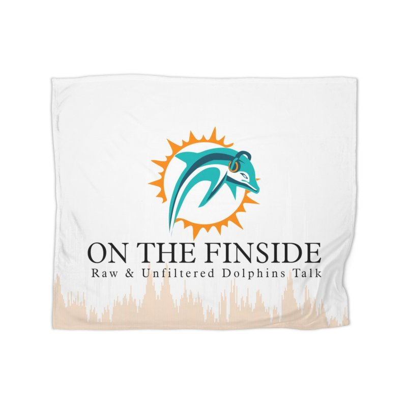 "White Logo - Equalizer ""Fire"" Home Blanket by OnTheFinSide's Artist Shop"