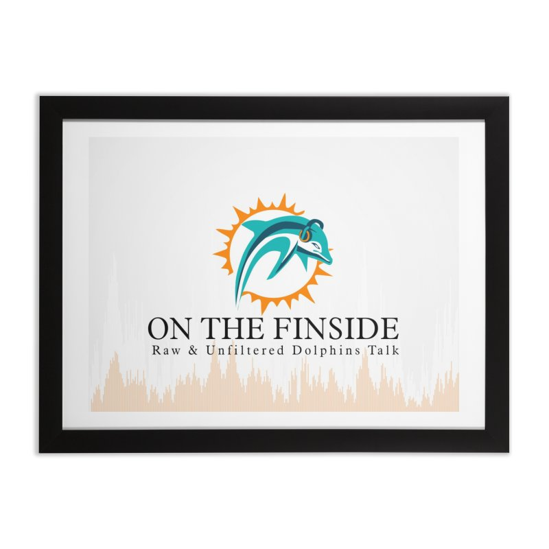 "White Logo - Equalizer ""Fire"" Home Framed Fine Art Print by On The Fin Side's Artist Shop"