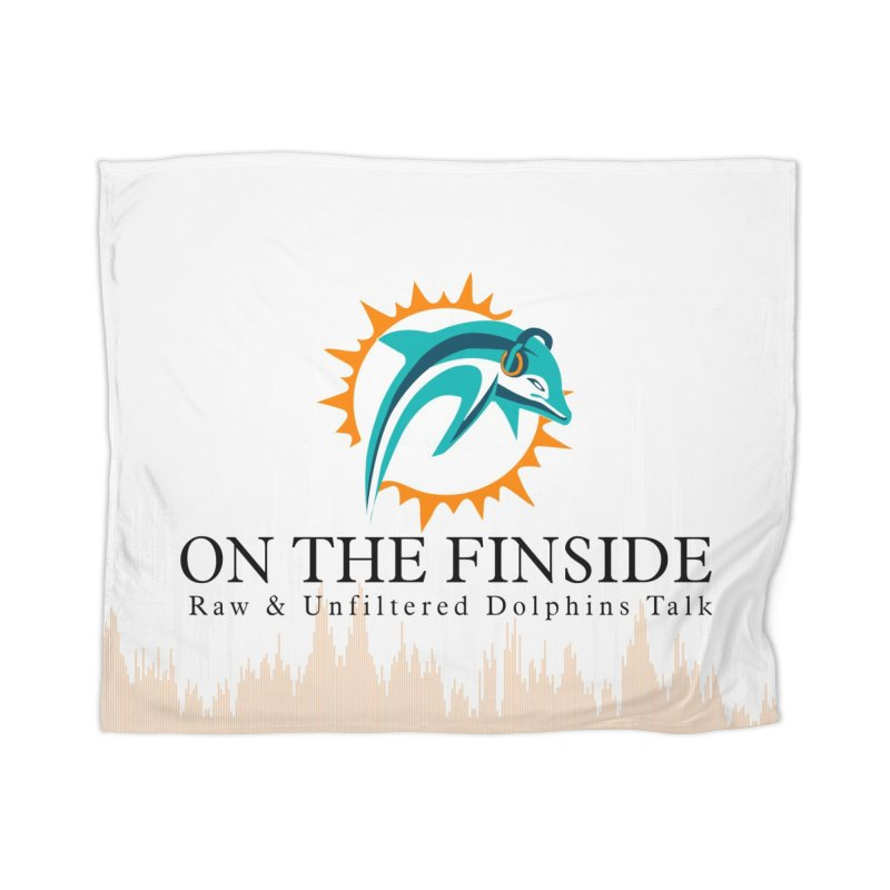 """White Logo - Equalizer """"Fire"""" Home Blanket by On The Fin Side's Artist Shop"""