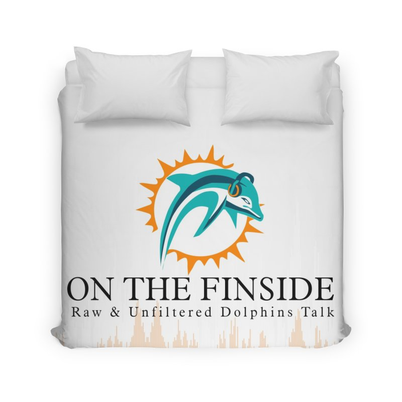 "White Logo - Equalizer ""Fire"" Home Duvet by OnTheFinSide's Artist Shop"