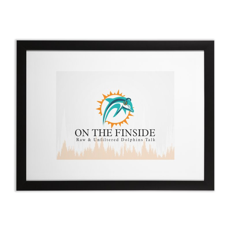 "White Logo - Equalizer ""Fire"" Home Framed Fine Art Print by On The Fin Side's Artist Shop"