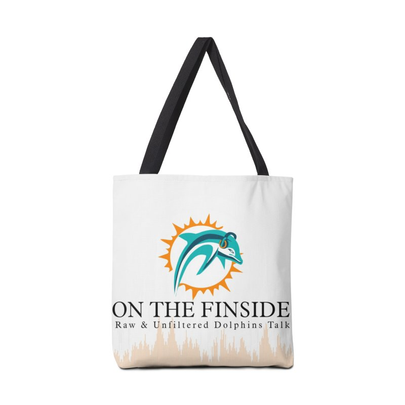 """White Logo - Equalizer """"Fire"""" Accessories Bag by OnTheFinSide's Artist Shop"""