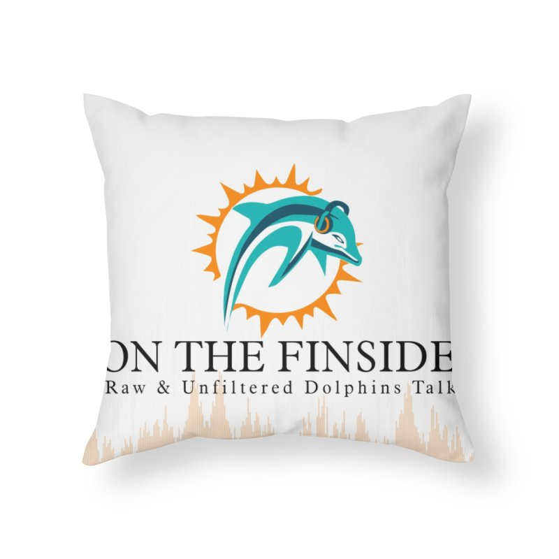 "White Logo - Equalizer ""Fire"" Home Throw Pillow by On The Fin Side's Artist Shop"