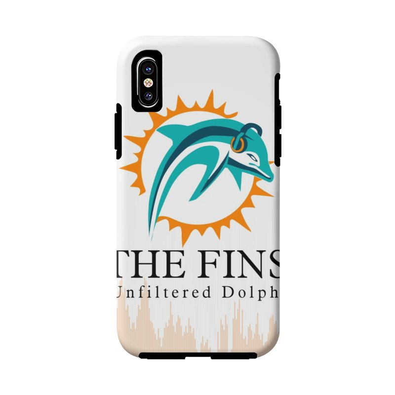 "White Logo - Equalizer ""Fire"" in iPhone X / XS Phone Case Tough by On The Fin Side's Artist Shop"