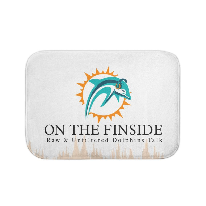 "White Logo - Equalizer ""Fire"" Home Bath Mat by OnTheFinSide's Artist Shop"