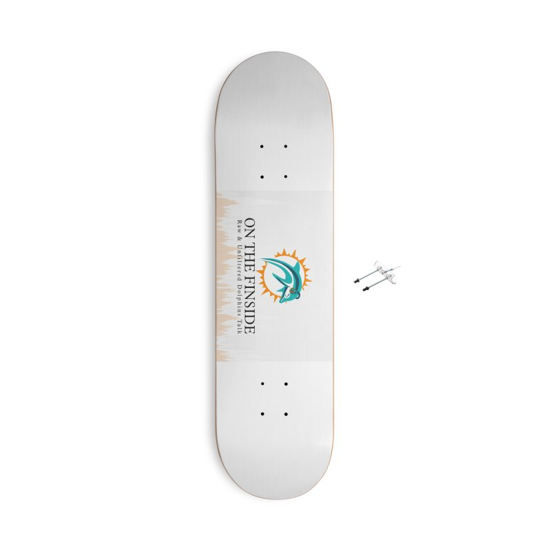 """White Logo - Equalizer """"Fire"""" Accessories With Hanging Hardware Skateboard by On The Fin Side's Artist Shop"""