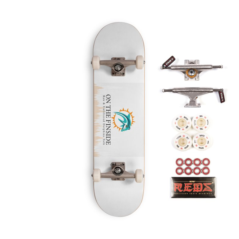 "White Logo - Equalizer ""Fire"" Accessories Complete - Pro Skateboard by On The Fin Side's Artist Shop"