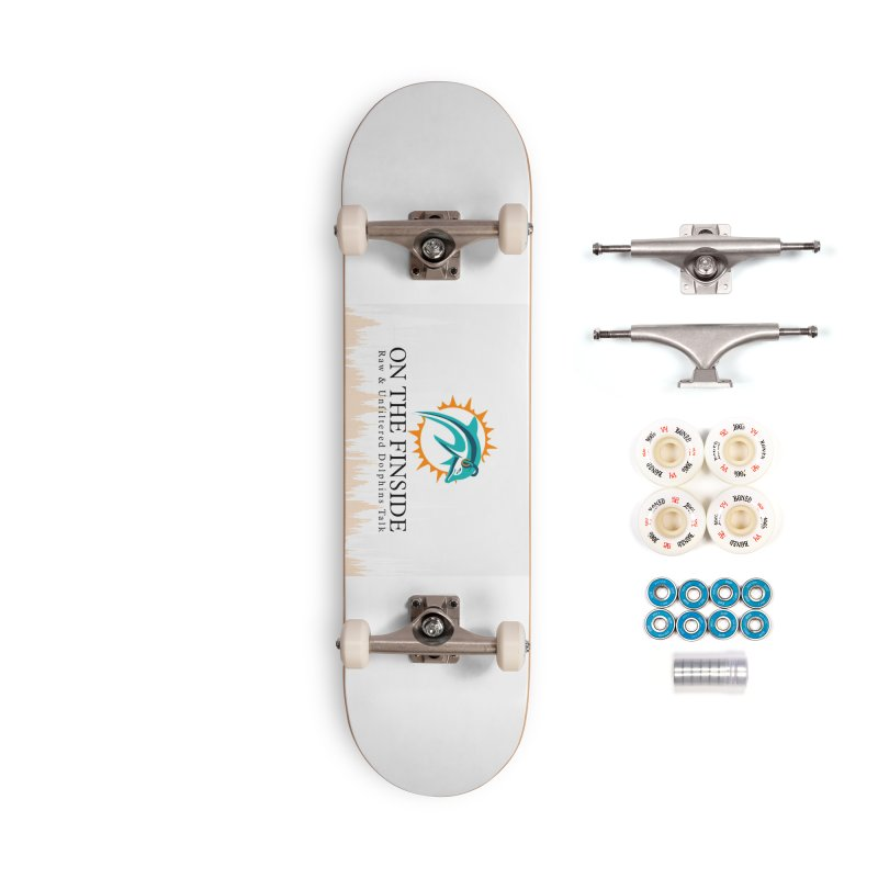 "White Logo - Equalizer ""Fire"" Accessories Complete - Premium Skateboard by On The Fin Side's Artist Shop"