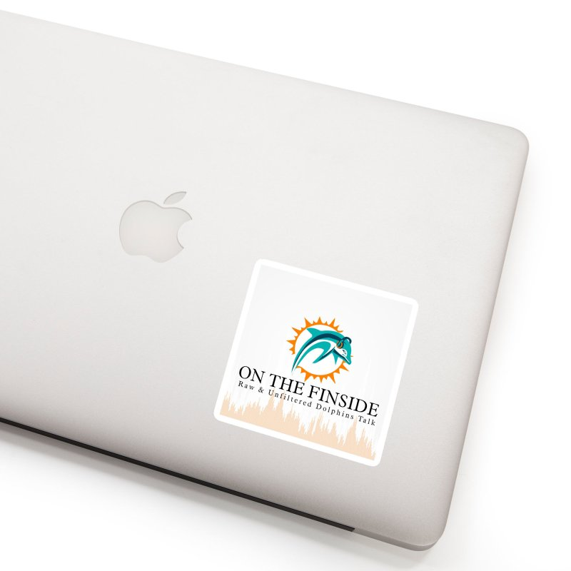 """White Logo - Equalizer """"Fire"""" Accessories Sticker by On The Fin Side's Artist Shop"""