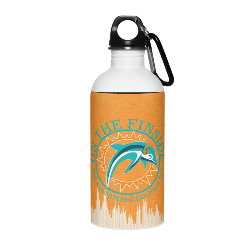 Teal Bullet, Orange Bowl Accessories Water Bottle by On The Fin Side's Artist Shop