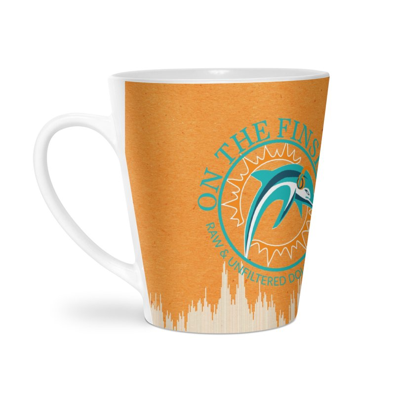 Teal Bullet, Orange Bowl Accessories Latte Mug by On The Fin Side's Artist Shop