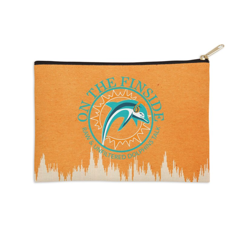 Teal Bullet, Orange Bowl Accessories Zip Pouch by On The Fin Side's Artist Shop