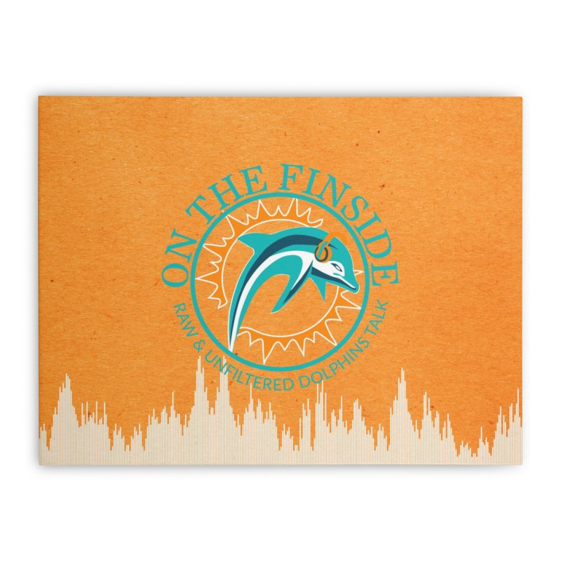 Teal Bullet, Orange Bowl Home Stretched Canvas by On The Fin Side's Artist Shop
