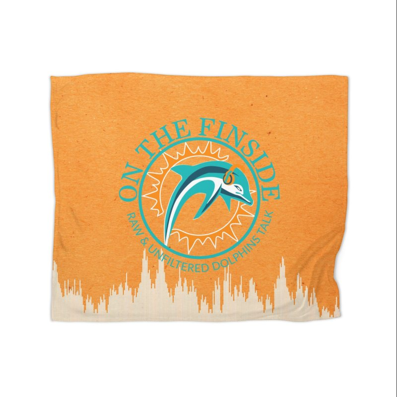 Teal Bullet, Orange Bowl Home Blanket by OnTheFinSide's Artist Shop