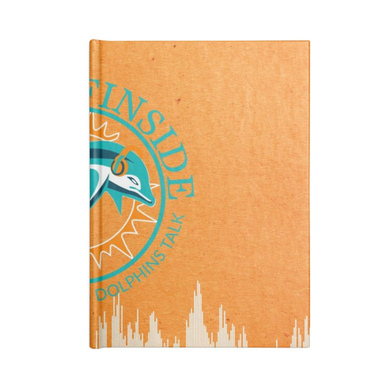 Teal Bullet, Orange Bowl Accessories Lined Journal Notebook by On The Fin Side's Artist Shop