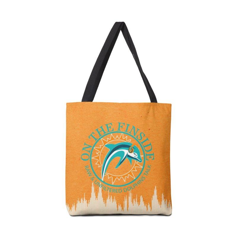 Teal Bullet, Orange Bowl Accessories Bag by OnTheFinSide's Artist Shop
