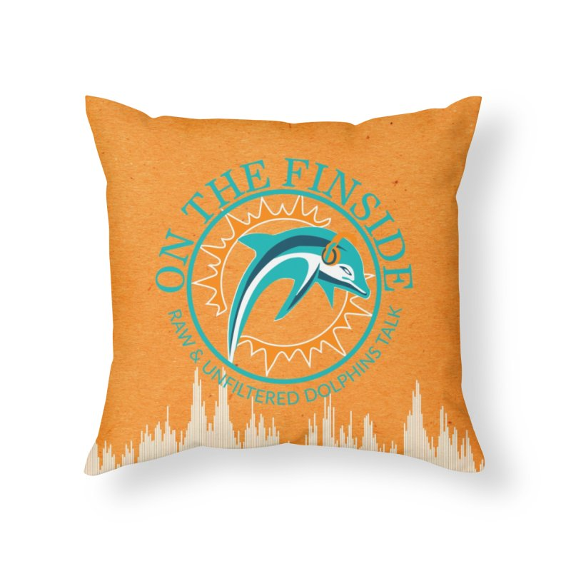 Teal Bullet, Orange Bowl Home Throw Pillow by On The Fin Side's Artist Shop