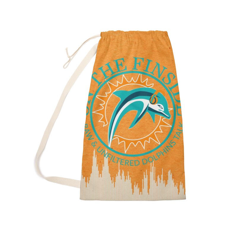 Teal Bullet, Orange Bowl Accessories Laundry Bag Bag by On The Fin Side's Artist Shop