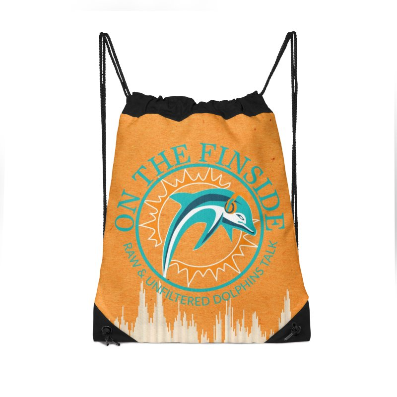 Teal Bullet, Orange Bowl Accessories Bag by On The Fin Side's Artist Shop
