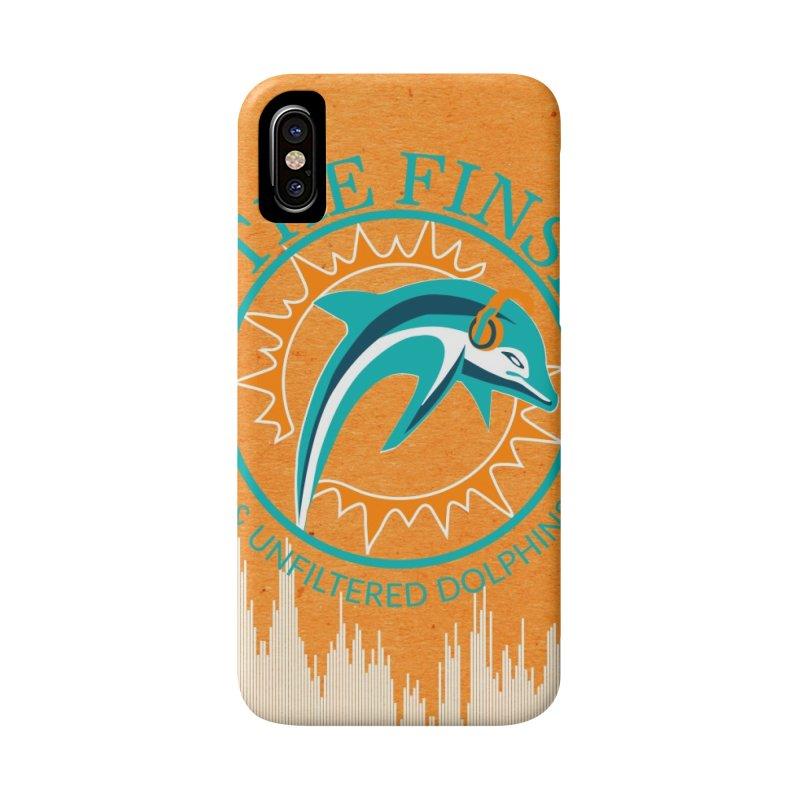 Teal Bullet, Orange Bowl Accessories Phone Case by OnTheFinSide's Artist Shop