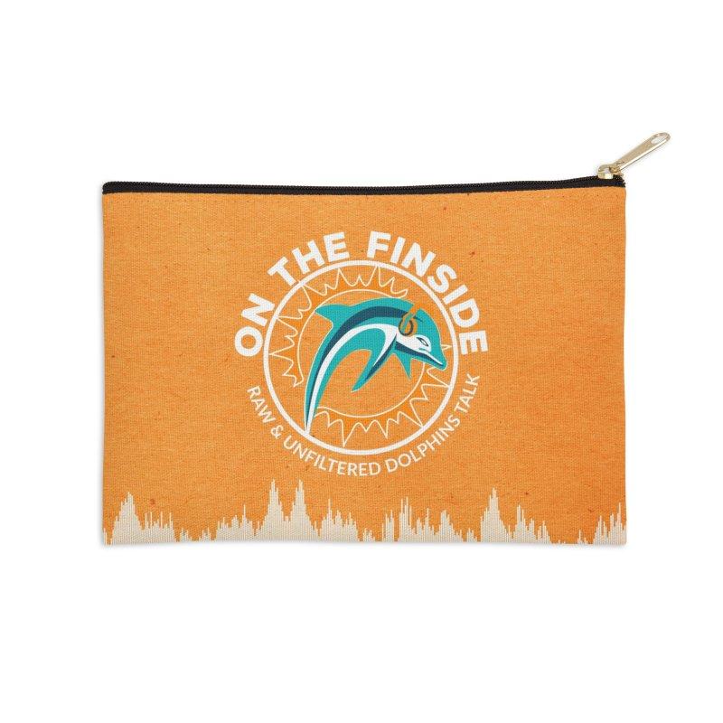 White Bullet, Orange Bowl Accessories Zip Pouch by OnTheFinSide's Artist Shop