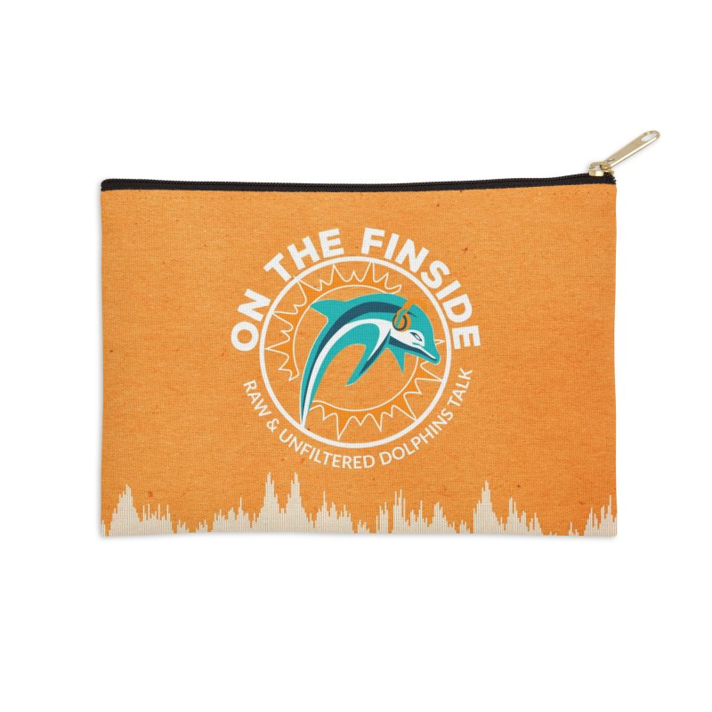 White Bullet, Orange Bowl Accessories Zip Pouch by On The Fin Side's Artist Shop