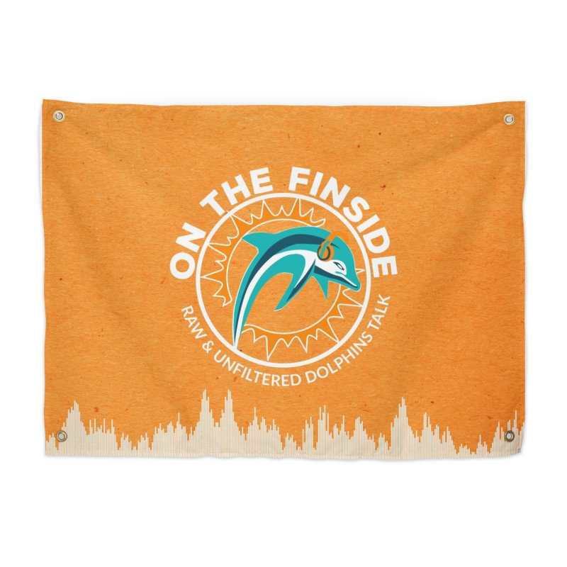 White Bullet, Orange Bowl Home Tapestry by OnTheFinSide's Artist Shop