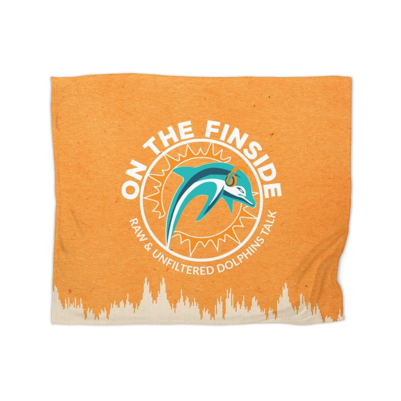 White Bullet, Orange Bowl Home Blanket by On The Fin Side's Artist Shop