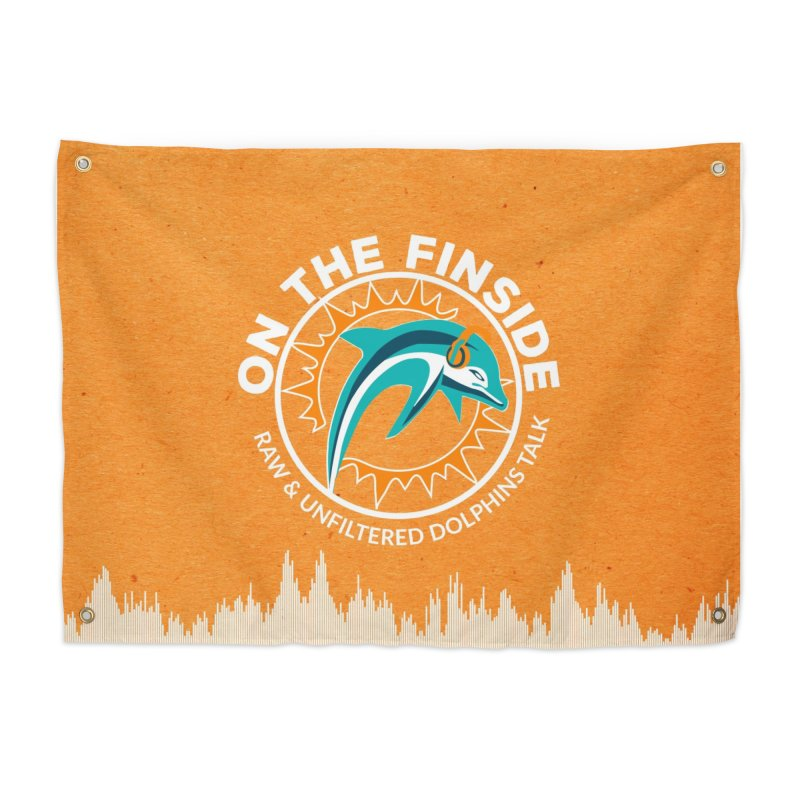 White Bullet, Orange Bowl Home Tapestry by On The Fin Side's Artist Shop