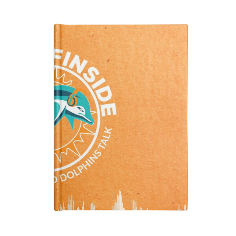 White Bullet, Orange Bowl Accessories Blank Journal Notebook by On The Fin Side's Artist Shop