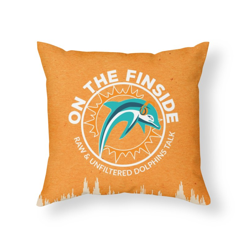 White Bullet, Orange Bowl Home Throw Pillow by On The Fin Side's Artist Shop