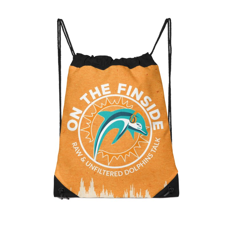 White Bullet, Orange Bowl Accessories Drawstring Bag Bag by On The Fin Side's Artist Shop