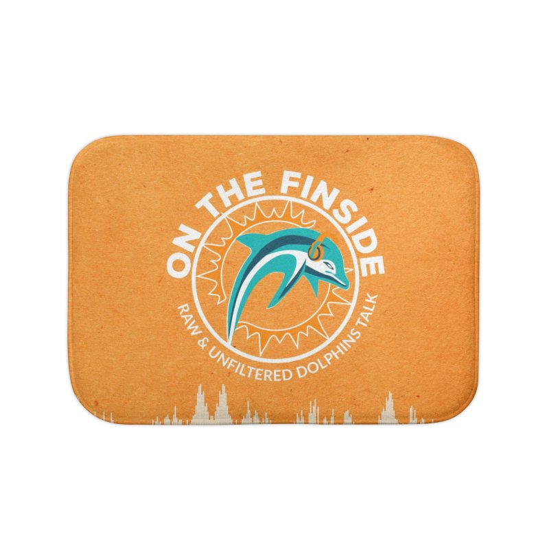 White Bullet, Orange Bowl Home Bath Mat by OnTheFinSide's Artist Shop