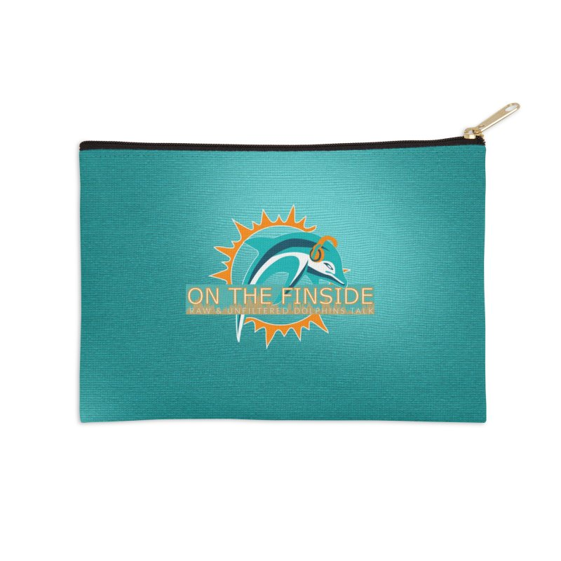 Glow Teal - Alt Accessories Zip Pouch by OnTheFinSide's Artist Shop