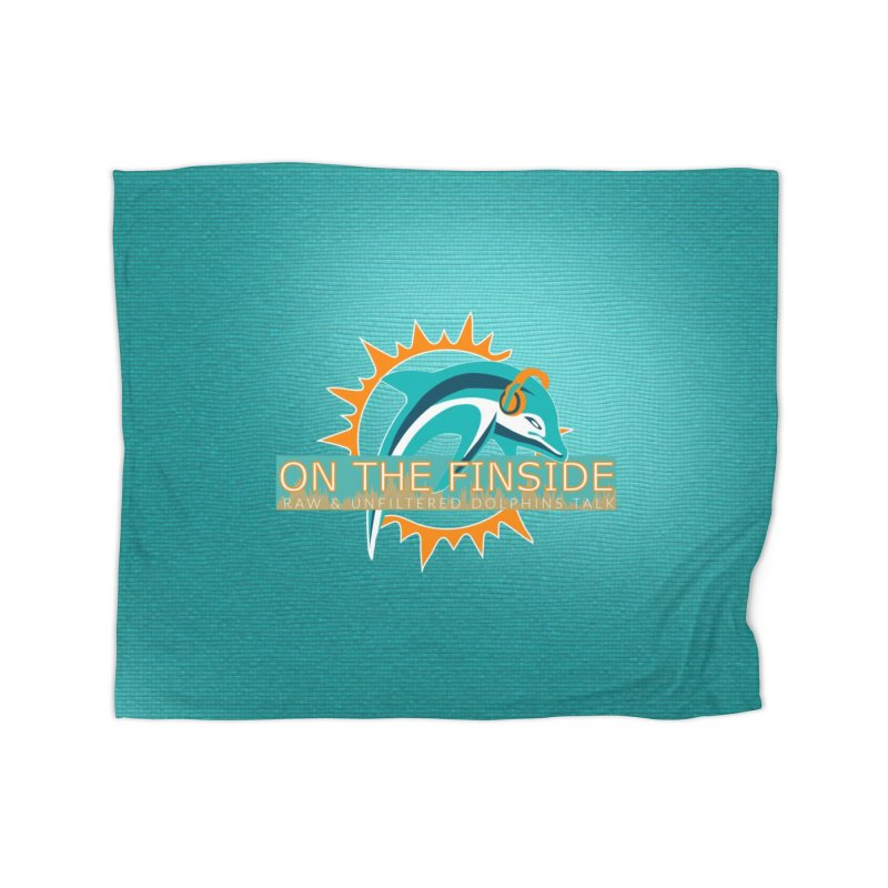 Glow Teal - Alt Home Blanket by OnTheFinSide's Artist Shop
