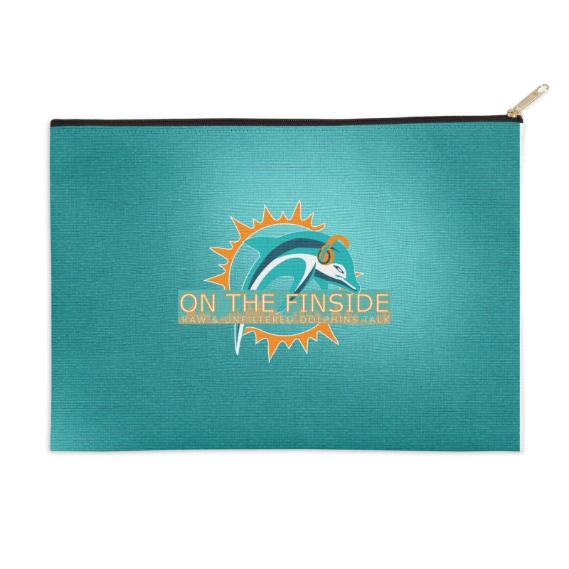 Glow Teal - Alt Accessories Zip Pouch by On The Fin Side's Artist Shop