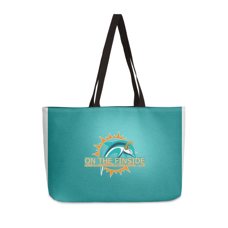 Glow Teal - Alt Accessories Weekender Bag Bag by On The Fin Side's Artist Shop