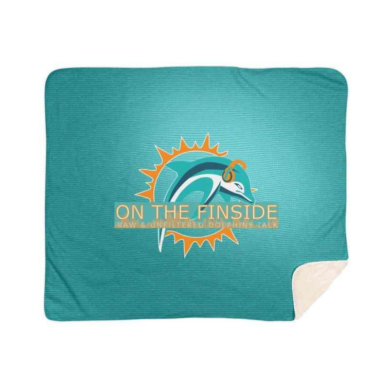 Glow Teal - Alt Home Blanket by On The Fin Side's Artist Shop