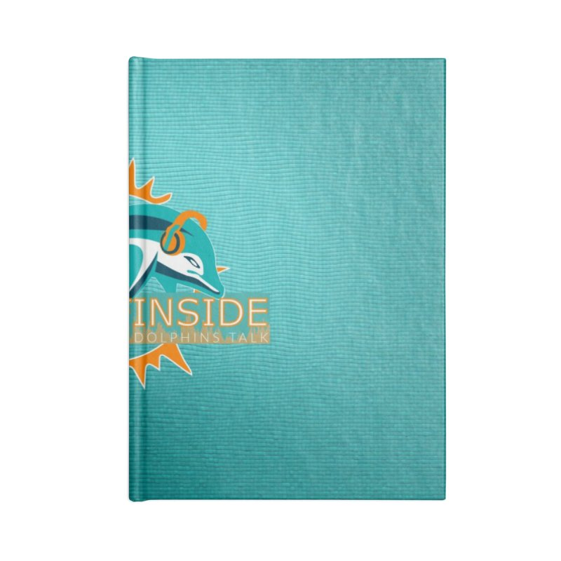 Glow Teal - Alt Accessories Blank Journal Notebook by On The Fin Side's Artist Shop