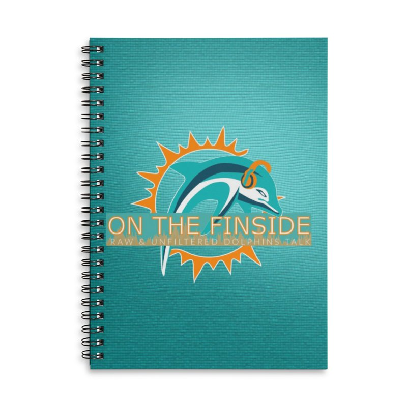 Glow Teal - Alt Accessories Lined Spiral Notebook by On The Fin Side's Artist Shop