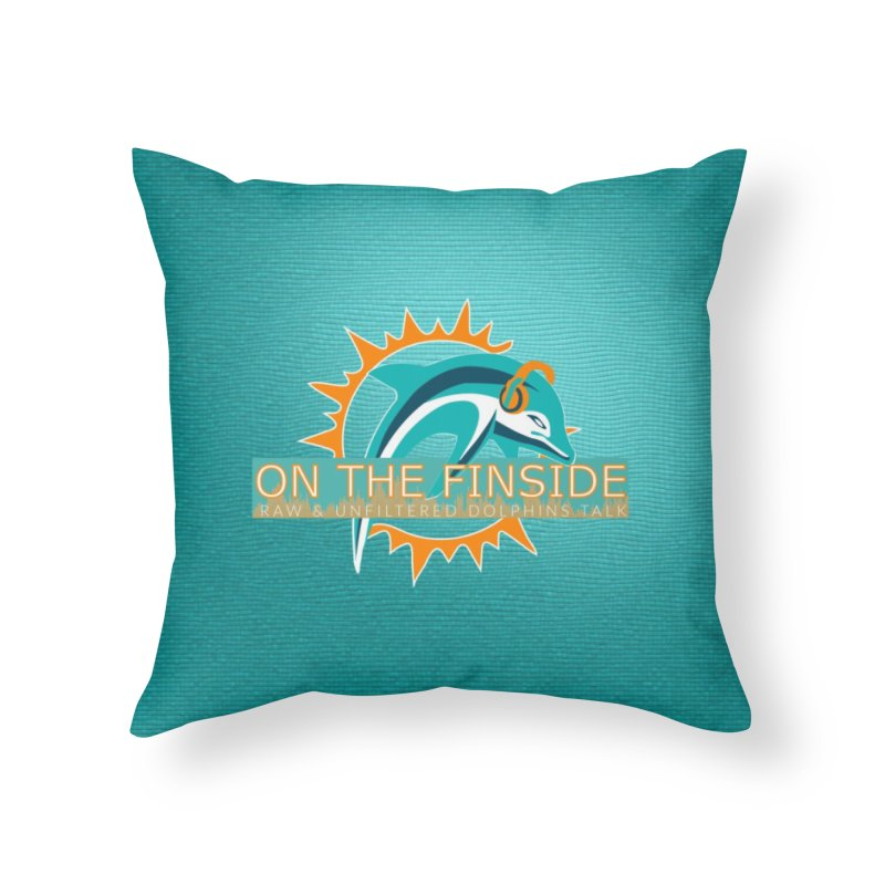 Glow Teal - Alt Home Throw Pillow by OnTheFinSide's Artist Shop