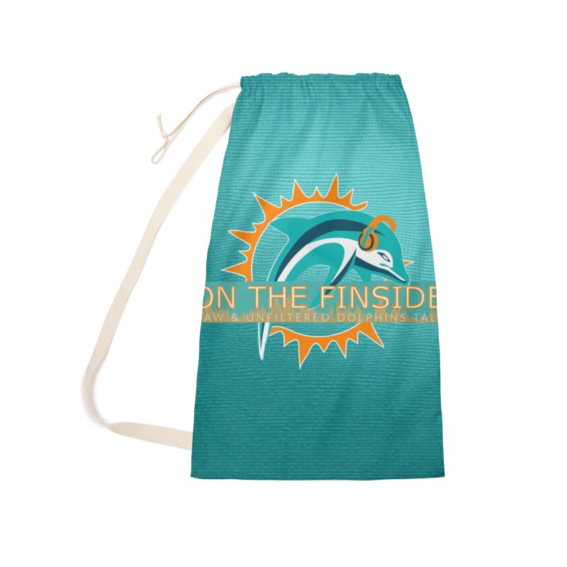 Glow Teal - Alt Accessories Laundry Bag Bag by On The Fin Side's Artist Shop