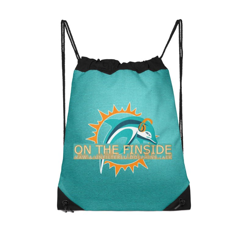 Glow Teal - Alt Accessories Drawstring Bag Bag by On The Fin Side's Artist Shop