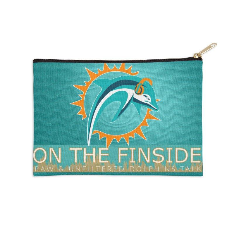 FinSide Teal Glow Accessories Zip Pouch by On The Fin Side's Artist Shop